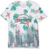 Teddy Smith Boy's Tubler Printed Short Sleeve T-Shirt,(Manufacturer Size: 10)