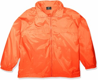 Clementine UltraClubs Men's ULTC-8929-Hooded Zip-Front Pack-Away Jacket