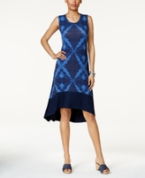 Style&Co. Style & Co Style & Co Petite Printed High-Low Dress, Created for Macy's