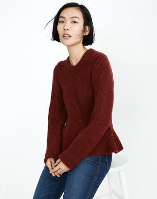 Madewell Peplum Pullover Sweater