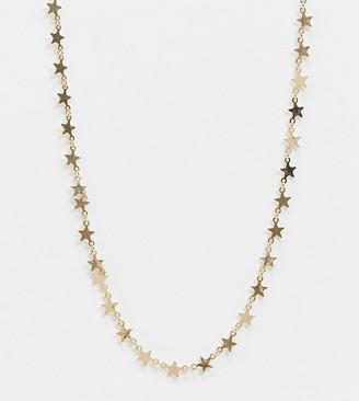 ASOS DESIGN Curve necklace in star design in gold tone