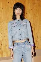 CONTEMPORARY Shrunken Fringe Bead Denim Jacket