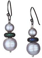 Katerina Psoma Women's 925 Sterling Silver White Pearl Earrings