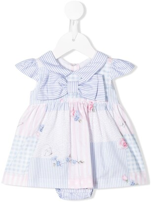 Lapin House Panelled Bow Detail Dress Set