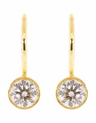 Kwiat Yellow Gold Bezel Set Diamond Drop Earrings