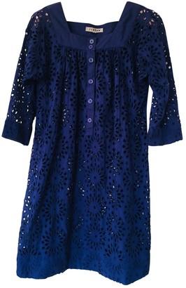 Jigsaw Blue Cotton Dress for Women