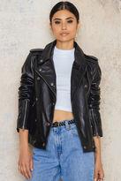 Calvin Klein Aurala Leather Biker Jacket