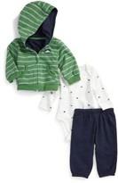 Little Me Infant Boy's Dino Hoodie, Bodysuit & Pants Set