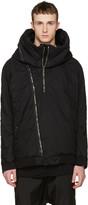 Julius Black Seamed Hooded Jacket