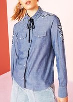 Ulla Johnson Willie Western Chambray Shirt