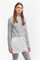 French Connection Crochet Cable Knit Jumper Shirt