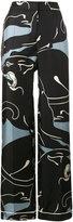 Valentino panther print palazzo pants - women - Silk - XS