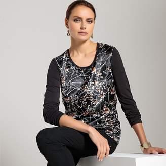 Anne Weyburn Dual Fabric Printed T-Shirt