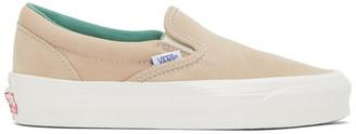 Vans Tan OG Classic Slip-On LX Sneakers