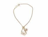 Chanel Gold Chain CC Flap Charm Bracelet
