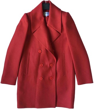 Carven Red Wool Coat for Women