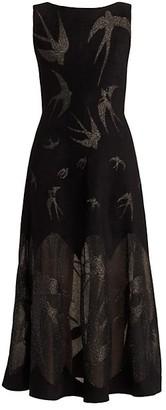 Alaia Sleeveless Glitter Knit Cocktail Dress