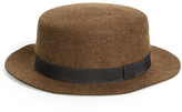 Topman Wool Boater Hat