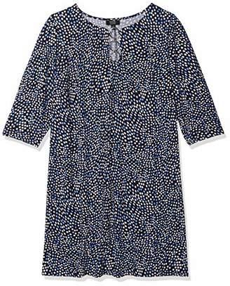 MSK Women's Plus Size 3/4 Sleeve Three Ring Dress