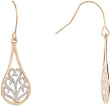 Candela 14K Two-Tone Gold Filigree Dangle Earrings