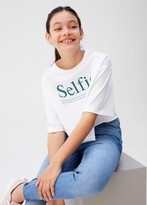 MANGO Message crop T-shirt