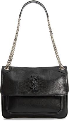 Saint Laurent Medium Niki Snakeskin Shoulder Bag