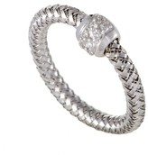Roberto Coin Primavera 18K White Gold Diamond Band Ring Size 7