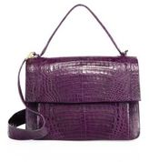 Nancy Gonzalez Crocodile Flap Top-Handle Messenger Bag