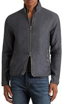 John Varvatos Linen Zip Front Jacket