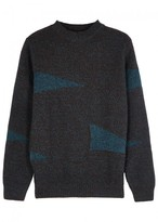 A.p.c. Teal And Brown Wool Jumper
