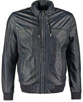 Pepe Jeans Lucas Leather Jacket Dark Blue
