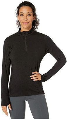 tasc Performance St. Charles 1/4 Zip (Black) Women's Clothing