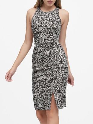 Banana Republic Metallic Leopard Bi-Stretch Sheath Dress