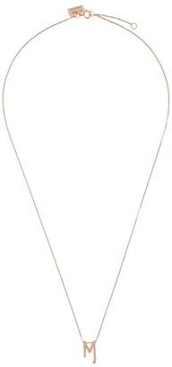 VANRYCKE Rose Gold Alphabet Letter M Necklace
