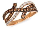 LeVian Vanilla Diamond, Chocolate Diamond, Cognac Diamond & 14K Strawberry Gold Ring