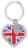 Harrods Union Jack Heart Keyring