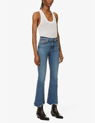 Rag & Bone Ladies Blue Cotton Nina Skinny High-Rise Jeans, Size: 23