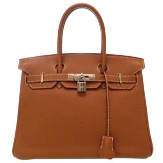 Hermã ̈S HermAs Birkin 30 Gold Leather Handbags