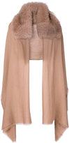 Valentino Garavani Valentino cashmere oversized scarf - women - Rabbit Fur/Cashmere - One Size