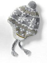Classic Girls Chunky Knit Peruvian Hat-Dark Cinnabar Stripe