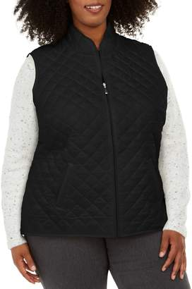 Karen Scott Plus Quilted Puffer Vest