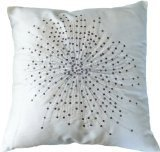 """BLUE DOLPHIN Decorative Designer's Floral Throw Pillow COVER 18"""" Black/white"""