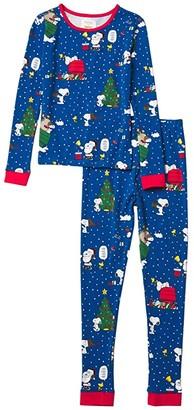 BedHead Pajamas Kids Long Sleeve Snug Fit Pajama Set (Toddler/Little Kids/Big Kids) (Snoopy's Season of Giving) Kid's Pajama Sets