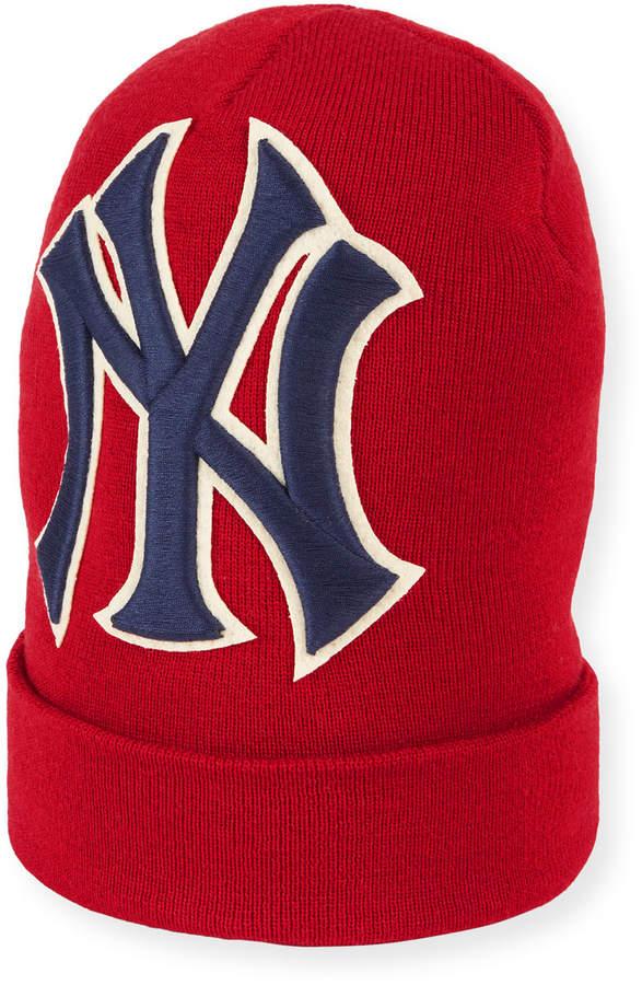 82dd713c Men's New York Yankees MLB Patch Beanie Hat