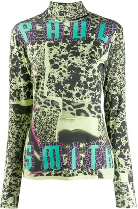 Paul Smith collage print top