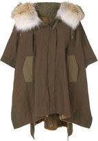 Army Yves Salomon hooded cape coat