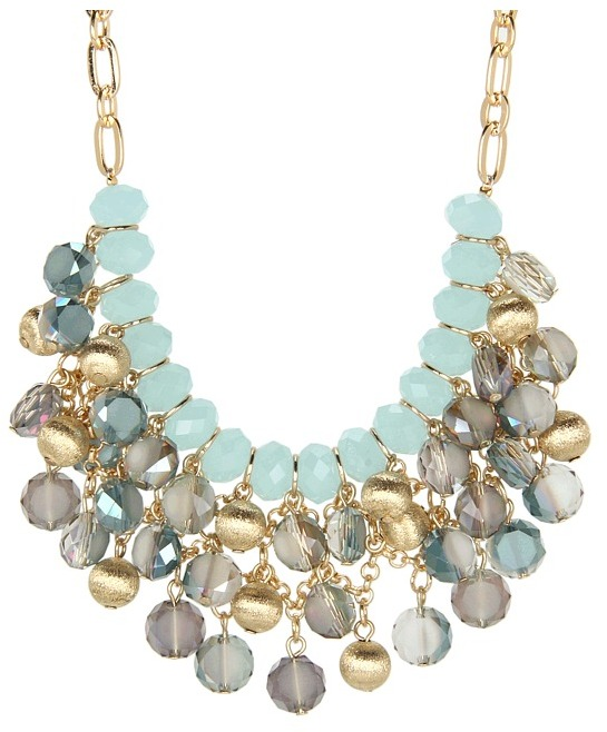 Brigitte Bailey Beaded Rock Necklace (Blue) - Jewelry