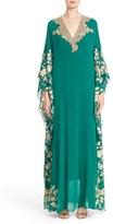Women's Badgley Mischka Embellished & Embroidered Caftan