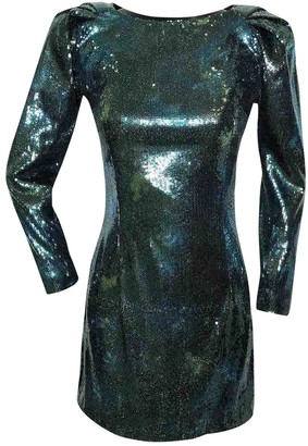 Balmain Green Glitter Dress for Women