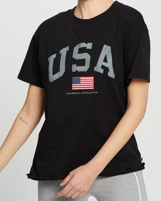 Russell Athletic USA Boyfriend T-Shirt